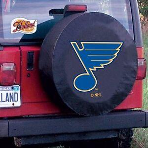 St Louis Blues NHL Tire Cover on Black Vinyl