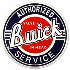 Vintage Replica Tin Metal Sign Buick Motor Chevy Valve In Head Service Round 185