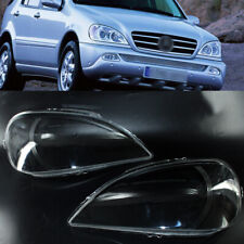 Pair Clear Headlight Lampsahde Lens Cover For Mercedes Benz W163 ML Class 02-05