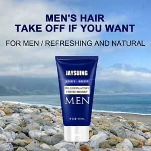 For men Permanent Hair Removal Cream Facial Pubic Beard Depilatory Paste 60ml