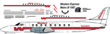 Western Express  Metro III decals for Contrails 1/144 kits