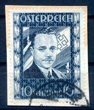 ÖSTERREICH 1934 588 gest DOLLFUSS auf Briefstück 1300€(Z0728