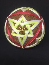 New Handmade Multi Color Japanese Temari Tread Ball Made in Japan Freeship