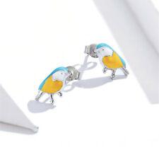 Women Fashion Silver Jewelry Birdie Stud Drop Earrings Christmas Gifts