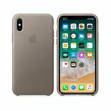 Apple iPhone X Leder Schutzh�lle - taupe