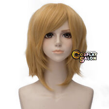 35cm Golden Blonde Short Layered Party VOCALOID Kagamine Rin Anime Cosplay Wig