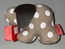 Monica Richards of London - Paperweight - Elephant - Khaki with White Polkadots