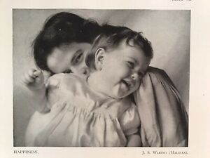 HAPPINESS, Mother And Child, Baby, 1945 Vintage RP Print, J. S. Waring, Halifax