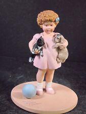 Danbury Mint 1993 Bessie Pease Gutmann Friendly Enemies Girl Puppy & Kitten