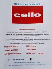 Cello C32227F-DEL DVD modèle CV9202H-D 120721 C LSC320AN04 EPROM Kit lire annonce