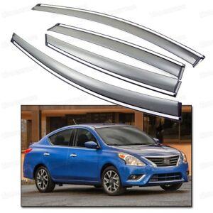 Window Visor Vent Shade Rain/Sun/Wind Guard for 2011-2015 Up Nissan Versa Sedan