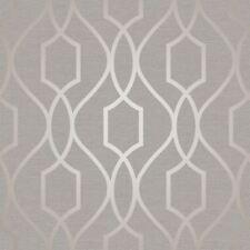 Sommet Géométrique Papier peint treillis gris / Taupe - décor fin fd41997