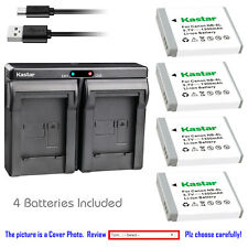 Kastar Battery Slim Dual Charger for Canon NB-6L CB2LY Canon PowerShot SX240 HS