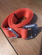 "100% Authentic Ralph Lauren RLX Expedition Web Nylon Belt Size Large Orange 46"""