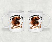 Kaffeetasse Tasse Becher mit Boxer Hund Beidseitiger Druck Lustiger Spruch