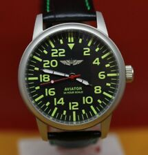 Vintage Poljot Aviator watch Military mens watches 24 hour scale Steel Case