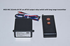 MSD-INC 6V 315mhz relay switch with on/off remote control transmitter RS60