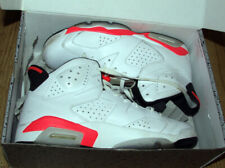 Air Jordan 6 Retro White Infrared Black 2014 Red Men's VI 23 DS 384664-123 10.5