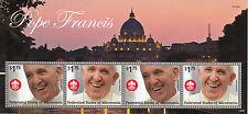 Micronesia 2014 MNH Pope Francis 4v M/S I Popes Roman Catholic Church Religion