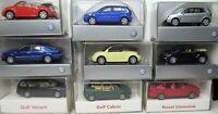 Wiking 1:87 VW Golf Cabrio Variant Passat Pheaton Beetle Polo OVP zum auswählen