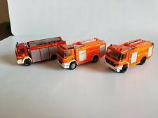 Feuerwehr Hamburg 3 Modelle MB Ivoce und DAF. 1:87
