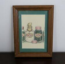 Mouse in a spice jar animal vintage print by Ellen Jareckie, framed art print