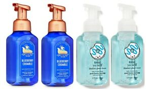 Bath &  Body Works Blueberry Crumble & Glazed Donut Gentle Foaming Hand Soap x4