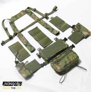 Camouflage 500D Nylon Tactical Modular Chest Rig Set Tactical Vest Adjustable