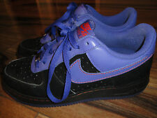 Nike Air Force 1 Low Size 9 Style #317295-051 MISMATE Black & Purple