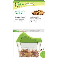 Jokari Healthy Steps Portion Control Nut Bowl - Measuring Container & Scoop