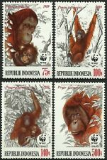 INDONESIE INDONESIA SINGES ORANG OUTAN PONGO PYGMAEUS MONKEYS AFFEN MNH 1989 WWF