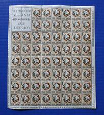 ITALY  (#921) 1965 Savings Day - House Under Construction MNH sheet
