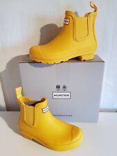 Hunter Damen Chelsea Boots Regen-Stiefeletten aus Gummi Farbe gelb Größe 36 NEU
