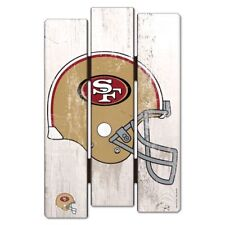 "San Francisco 49ers Fence Wood Sign 11""X17'' Brand New Wincraft"