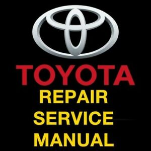 Car Truck Repair Manuals Literature For Toyota For Sale Ebay