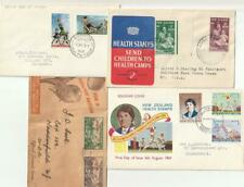 New Zealand Collection of 7 Health Stamps FDC 1946-1070