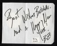 Billy Zane Signed Note Paper Autographed Signature Vintage Titanic The Mummy