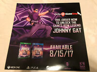"Agents Of Mayhem Gat Saints Row Gamestop Promo Poster 24x24""  Ps4 XBOX Game"