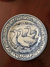 Williams Sonoma Brittany Geese Salad Dessert Plate Blue White Farm