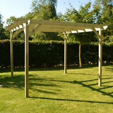 More details for *clearance* wooden garden pergola - 5 sizes / 2 colours available