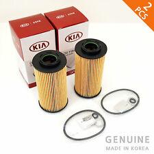 2X Genuine Oil Filter 263202A002 for KIA Rio Ceed Picanto HYUNDAI Accent i10 i30