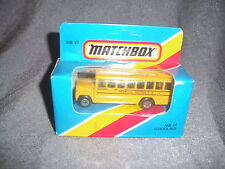 282B Vintage Matchbox 1981 MB 47 Bus School Bus School District 2 USA 1:76