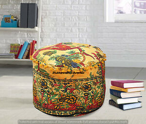Indian Footstools Decorative Cover Boho Tree Of Life Mandala Ottomans Case Poufs