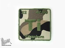 ill Gear CAMO Titanium Patch Atom Periodic Table of Element Ti 2X2