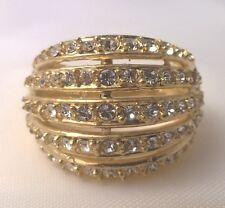 G-Filled Ladies 14k yellow gold simulated diamond ring engagement wedding dress