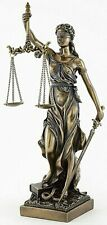 Blind Lady Justice with Scales Themis Statue Figurine Home Office Decor Accent