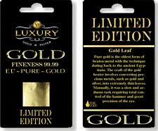 genuine 100%  99.9 Pure 24 carat gold Leaf mini Sheets  30mm x 30mm arts craft