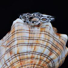 Gold Natural Diamond Semi Mount Ring 4x6mm Emerald Cut Solid 14K 585 White