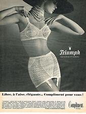 PUBLICITE ADVERTISING   104  1965  TRIUMPH   COMPLIMENT gaine soutien gorge