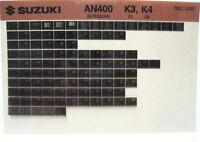 Suzuki AN400 Burgman 2003 2004 Parts Microfiche s279